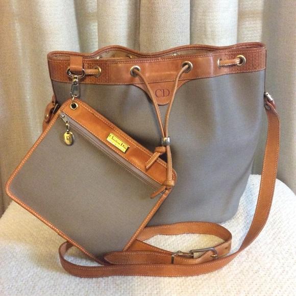 Dior Bags   Christian Vintage Crossbody Bucket Bag   Poshmark 140b41db23